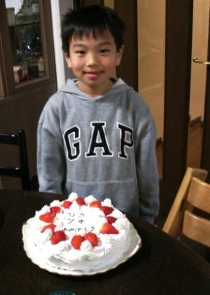 10年前の次男、7歳の誕生日。