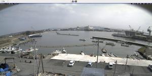 港のライブカメラから。5月6日の映像。