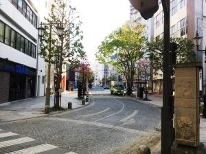 石畳のおしゃれな街並み
