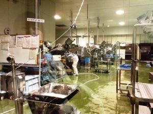 蒲鉾の工場。