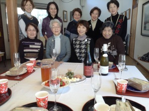 エッセイのお勉強のあとは、楽しいランチパーティ。